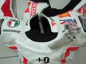 Dainese-AGV Simoncelli wrecked Test Sepang 2010