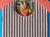 Biglietti Pasqua: Collage pulcino pollaio