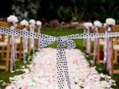 Polka dots stripes wedding