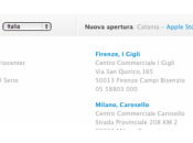 Confermata nascita secondo Store Roma sito Apple