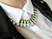 H&M neon yellow necklace