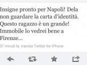 """FOTO-Criscitiello Twitter: """"Insigne pronto Napoli. Dela guardare…"""""""