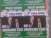 propaganda vergognosa della Lega l'immagine Falcone Borsellino