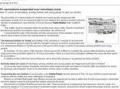 Vaccinazione contro H1N1 sospesa Finlandia timore della narcolessia