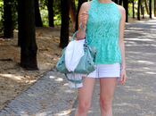Outfit: Neon Mint White