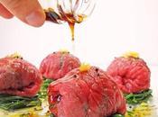 Beef carpaccio agretti thai style