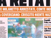 Calcioscommesse, prime pagine giornali edicola