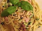 vermicelli crema zucchine,pancetta pinoli