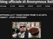 Cellula Anonymous oscura blog Beppe Grillo