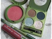 Review Swatch prodotti Alverde: Blush, Quattro Shadow, Eyeliner Lipgloss