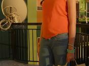 Outfit post:orange shirt