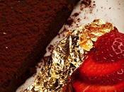 Torta cioccolato fiocchi polvere d'oro
