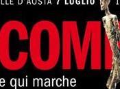"""Giacometti """"L'homme marche"""" Forte Bard, Valle d'Aosta"""