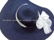 cappello paglia foulardino Aqua Mare