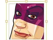 Creare super eroe come mascotte.