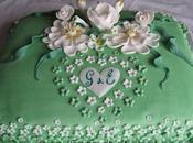 Torta floreale Promessa Matrimonio