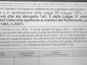 Arriva scadenza raccolta firme referendum parzialmente abrogativo sulla legge indennità parlamentari: luglio 2012