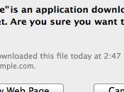 Basta avvisi file scaricati mac!