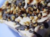 Cheesecake alla Nutella granella nocciole.
