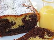 Plum cake marmorizzato doppio cioccolato