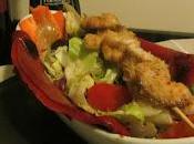 ...spiedini tacchino verdure salsa all'aceto balsamico aglio rosmarino...