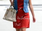 Heidi Montag: Side braid, Hermès Birkin Denim Military Vest