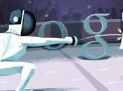 quarto doodle Google Londra 2012 Scherma