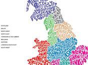 mappa musicale delle band della Gran Bretagna: nomi gruppi musicali collocati base alla loro provenienza