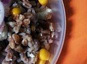Insalata farro feta,mais&cipolle; rosse pranzodilavoro#1