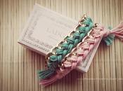 Summer trend 2012: braccialetti cotone colorato catena