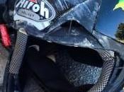 casco Chiara Fontanesi dopo l'incidente campionato italiano