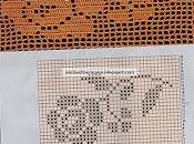 Schemi filet centrini semplici piastrelle