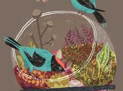 Patterns decori folk nelle bellissime illustrazioni hunt