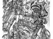 """disegno cover dello """"Steampunk Nouveau Folder"""", de..."""