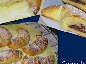 Cornetti nutella confettura mirtilli