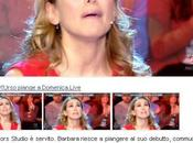 Barbara D'Urso cries Domenica Live