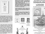 """Giovedì novembre """"Esquilino legge: libro, rione"""" incontro alle"""