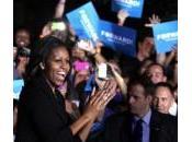 Michelle accanto Obama nella chiusura della campagna elettorale