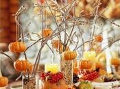 Centrotavola sassi zucche decorative