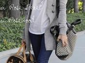 Ashley Tisdale: Gucci Crest Boule Fabric tote Louis Vuitton Chien