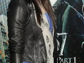 Lourdes Leon: Alexander McQueen Union Jack leather clutch skull scarf