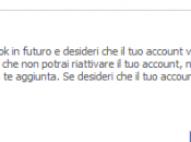 Come eliminare definitivamente account facebook