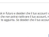 Come eliminare definitivamente account facebook
