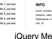 Menu informazioni jQuery