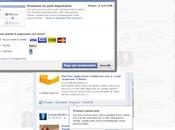 Nuovo servizio facebook post rilievo pagamento