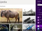 Wikipedia Windows tablet computer, applicazione integrata effettuare ricerche all'interno dell'enciclopedia famosa mondo.