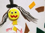 Lavoretto Carnevale: collage Arlecchino pannolenci