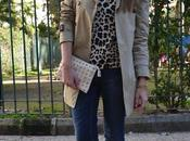 Animal print denim