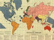 mappa nuovo ordine mondiale dopo Seconda Guerra Mondiale. proposta riorganizzare mondo vittoria degli Alleati