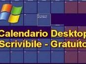 Calendario Desktop Scrivibile Gratuito